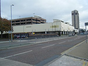 New Strand Shopping Centre - Bootle Bus Station, with the Strand Shopping Centre car park behind