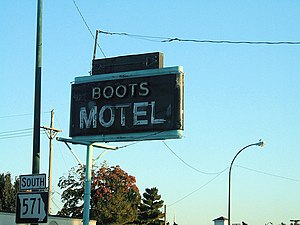 Boots Court Motel - Boots Court Motel on US Route 66