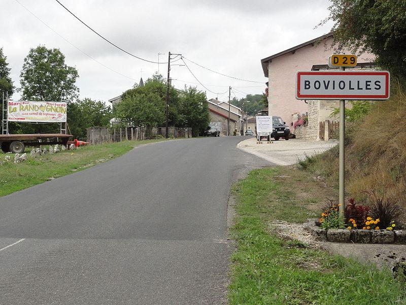 Boviolles (Meuse) city limit sign