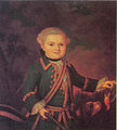 Boy with bird (Petr Alexandr. Cherkasov) by anonymous (1770s, Odessa).jpg