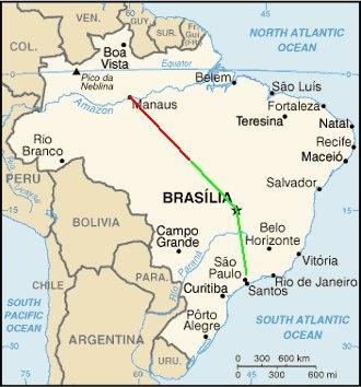 Gol Transportes Aéreos Flight 1907 - Image: Br map 1