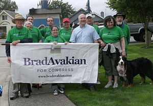 Brad Avakian - Avakian with supporters of his congressional bid