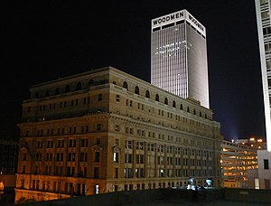 Economy of Omaha, Nebraska - The Woodmen Tower and the Brandeis Building in Downtown Omaha