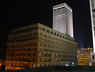WoodmenLife Tower - Image: Brandeis Building and Woodmen Tower