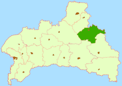 Location of Hancaviču rajons