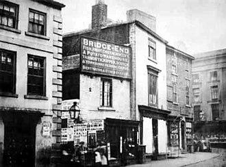 History of Leeds - Bridge End in Leeds city centre, 1869.