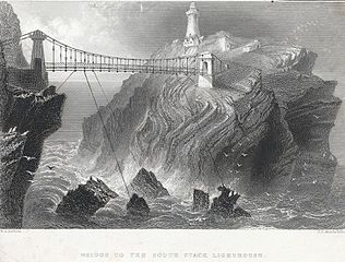 Bridge to the South Stack Lighthouse: near Holyhead