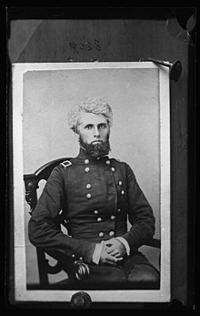 Brigadier General Eleazer A. Paine, Colonel of the 9th Illinois Infantry Regiment, half-length portrait, seated, facing front, in uniform LCCN2017647340.jpg