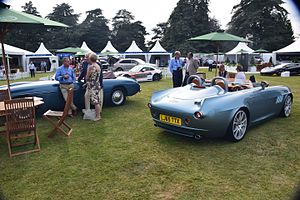 Bristol Bullet (automobile) - Rear view of the Bristol Bullet on display at Salon Prive'.