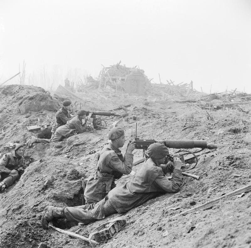 British commandos in the shattered outskirts of Wesel