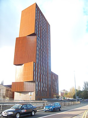 Weathering steel - Broadcasting Tower, Leeds, United Kingdom