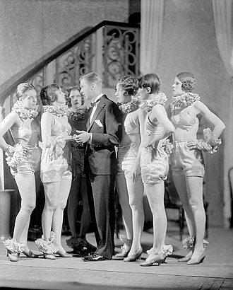 Broadway (play) - Roy (Lee Tracy) questions Billie (Sylvia Field) about the bracelet she is wearing in the original production of Broadway (1926)