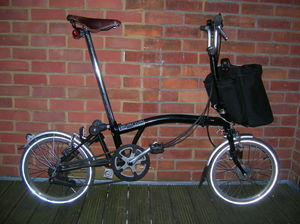 Folding bicycle - A Brompton folding bicycle