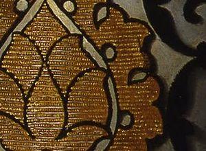 Portrait of Eleanor of Toledo - Detail of the brocaded velvet.