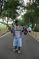 Brooklyn resident with two Black Liberation Flags - 50th Anniversary of the March on Washington for Jobs and Freedom.jpg