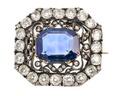 Brosch med safir och diamanter, 1800-tal - Hallwylska museet - 110259.tif