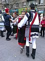 Bucuresti, Romania. 24 Nov. 2018. Bravii nostri Bucovineni. Doi tineri frumosi dansand un dans bucovinean.jpg