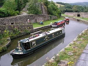 Bugsworth Basin - Part of the basin including the remains of the Gnats Hole lime kilns