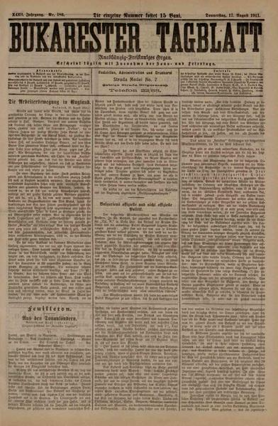 File:Bukarester Tagblatt 1911-08-17, nr. 183.pdf