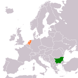 Map indicating locations of Bulgaria and Netherlands