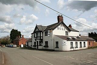 Shocklach village in United Kingdom