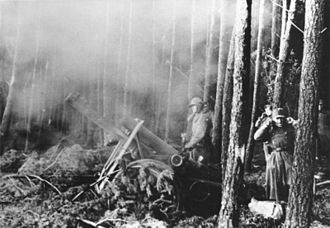 Operation Queen - German artillery in the Hürtgen Forest