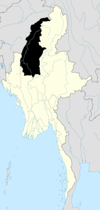 Location of Sagaing Region in Burma
