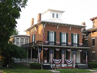 Waterloo, New York (village) - Image: Burton House Waterloo Aug 09