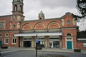 Bury St Edmunds railway station - The station entrance