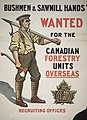 Bushmen & sawmill hands wanted for the Canadian forestry units overseas recruiting offices (16542081199).jpg