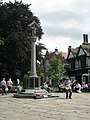Busker at The Cenotaph, Nantwich - panoramio.jpg