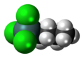 Butyltin trichloride 3D spacefill.png