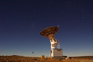 C-Band All Sky Survey - The southern C-BASS telescope in the final stages of commissioning in the Karoo.