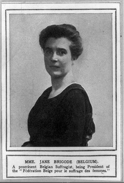 C1910 Jane Brigode Belgian suffragist