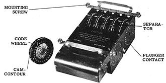Combined Cipher Machine - CSP 1600, the replacement stepping unit to adapt the ECM Mark II to CCM
