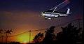 CESSNA 172 landing at Meadowlark Airport at sunset.jpg