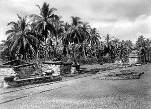 Old Banten - European cemetery near Fort Speelwijk