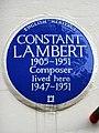 CONSTANT LAMBERT 1905-1951 Composer lived here 1947-1951.jpg