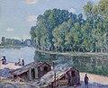 Cabanes au bord du canal du Loing, Effet de soleil ).jpg