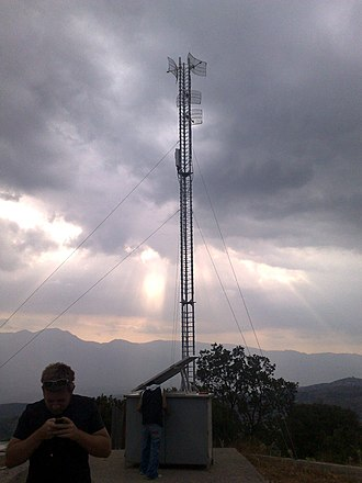 Off-the-grid - A CableFree Off-Grid Solar plus Battery Powered Radio Base Site installed in Greece