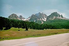 Cadini di Misurina in 2001 June.jpg