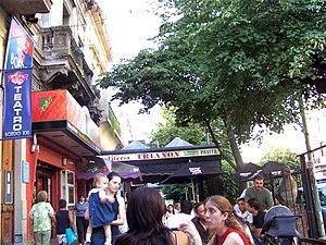 Cafes along Boedo Avenue, Buenos Aires.