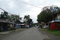 Main street in Cahuita