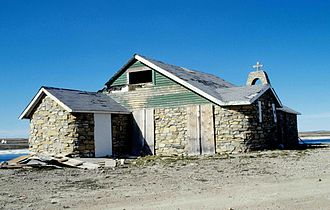 Cambridge Bay - The old stone church in 1998