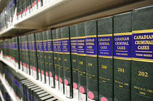 Law of Canada - Canadian Criminal Cases collection