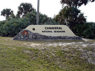 Florida State Road A1A - Entrance of Canaveral National Seashore from CR A1A.