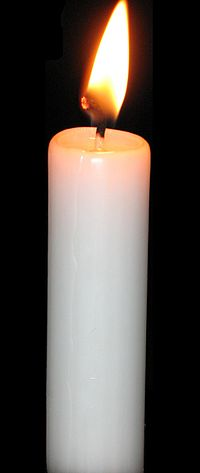 Paraffin candle Candle black.jpg