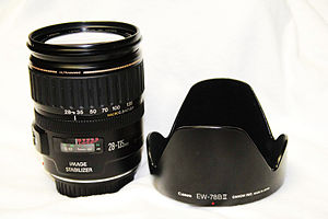 Canon EF 28–135mm lens - Image: Canon ef 28 135 is usm