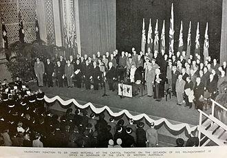 Capitol Theatre, Perth - 1950's government event at Capitol theatre