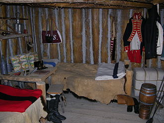 Fort Mandan - Lewis and Clark's room at the reconstructed fort
